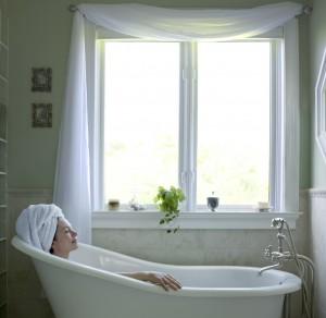 Woman Bathtub