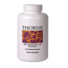 Betaine HCL & Pepsin by Thorne (Large) 450 capsules