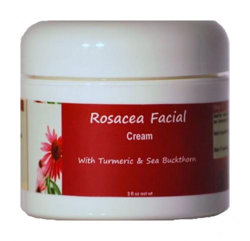 Rosacea Facial Cream with Sea Buckthorn, Turmeric, and Calendula