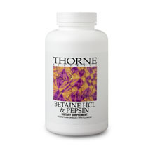 Betaine HCL & Pepsin by Thorne 225 capsules